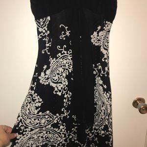 Black and White Paisley Dress